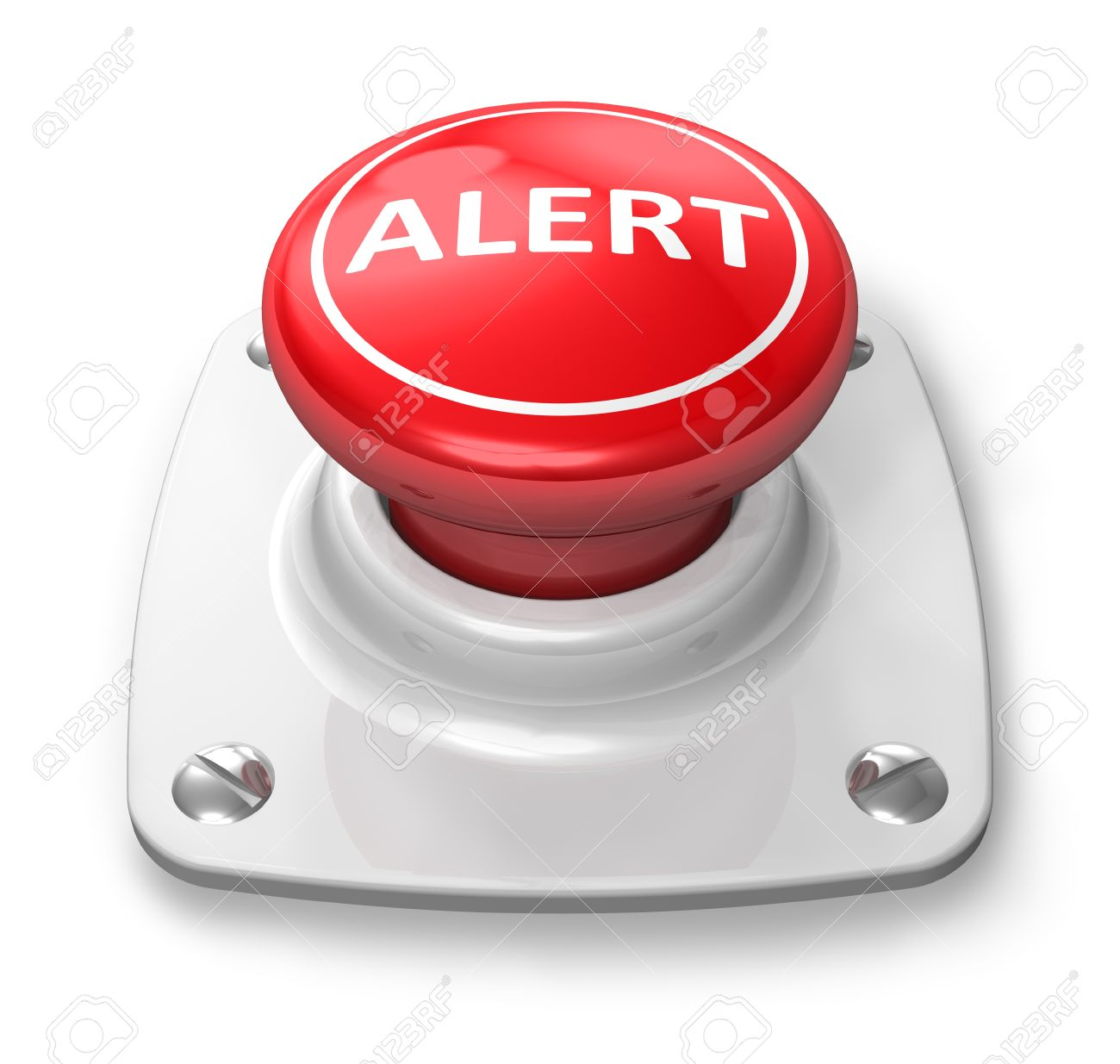 Red Alert Button Stock Photo Picture And Royalty Free Image Image