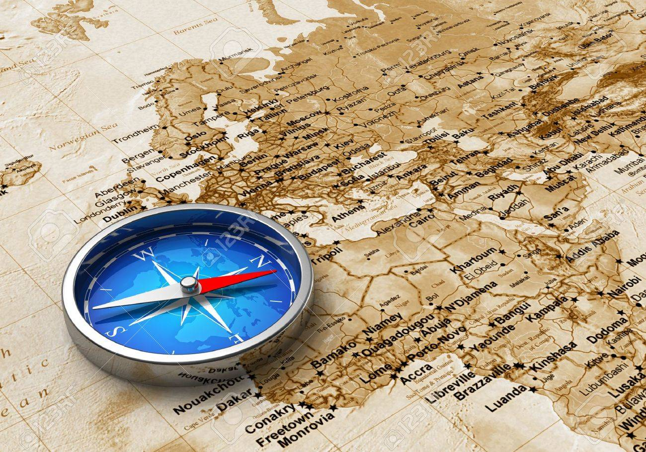 Macro view of blue metal compass on the old world map stock photo macro view of blue metal compass on the old world map stock photo 9832582 gumiabroncs