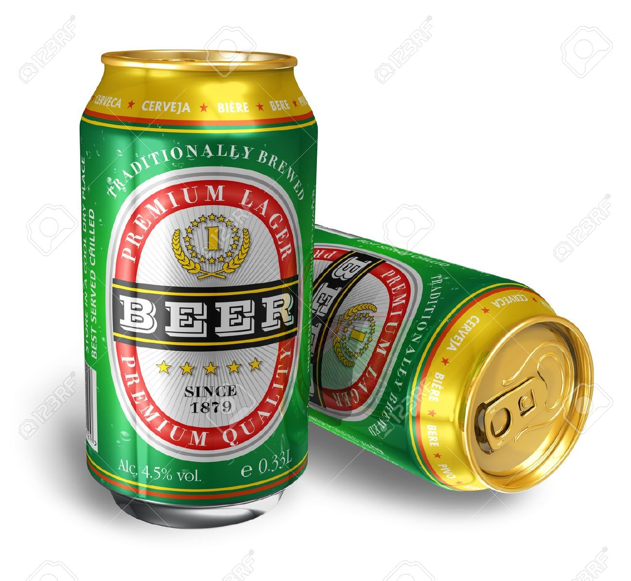 beer cans isolated on white background design of these cans