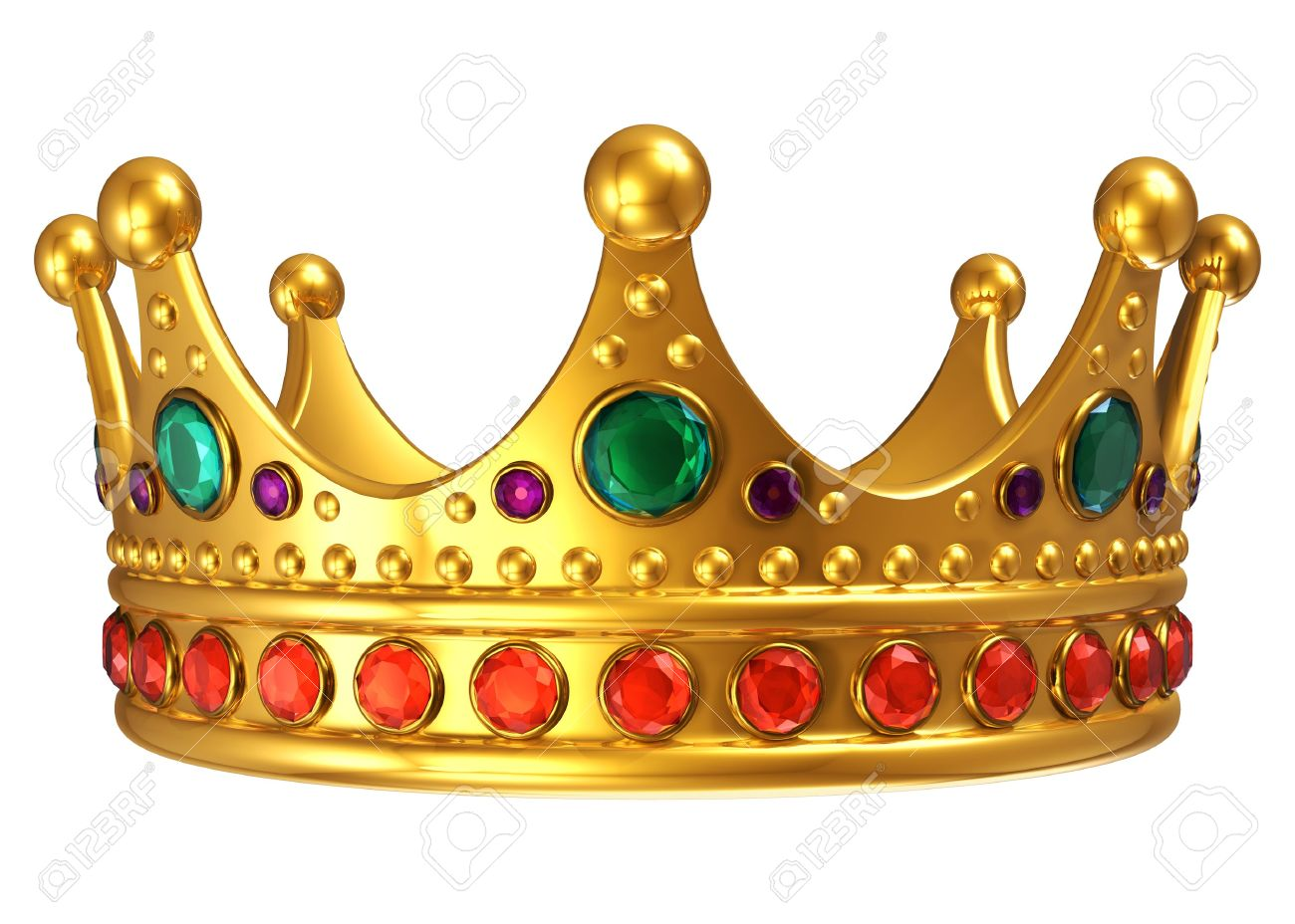 Golden royal crown isolated on white background Stock Photo - 11334121