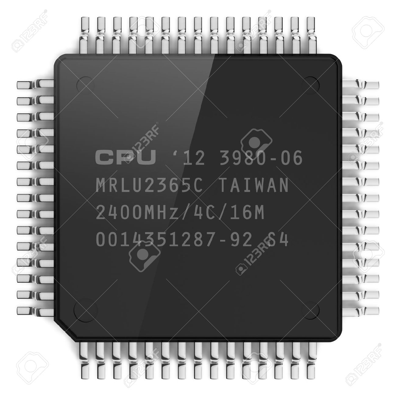 Modern computer microchip isolated on white background Stock Photo - 11583139