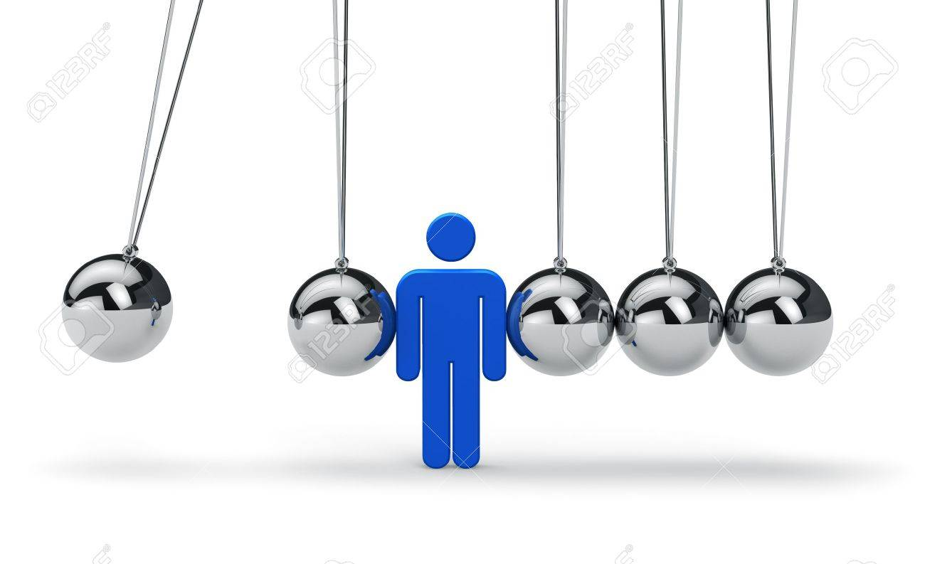 motivation business strategy teamwork and success concept motivation business strategy teamwork and success concept blue human figure in newton stock photo