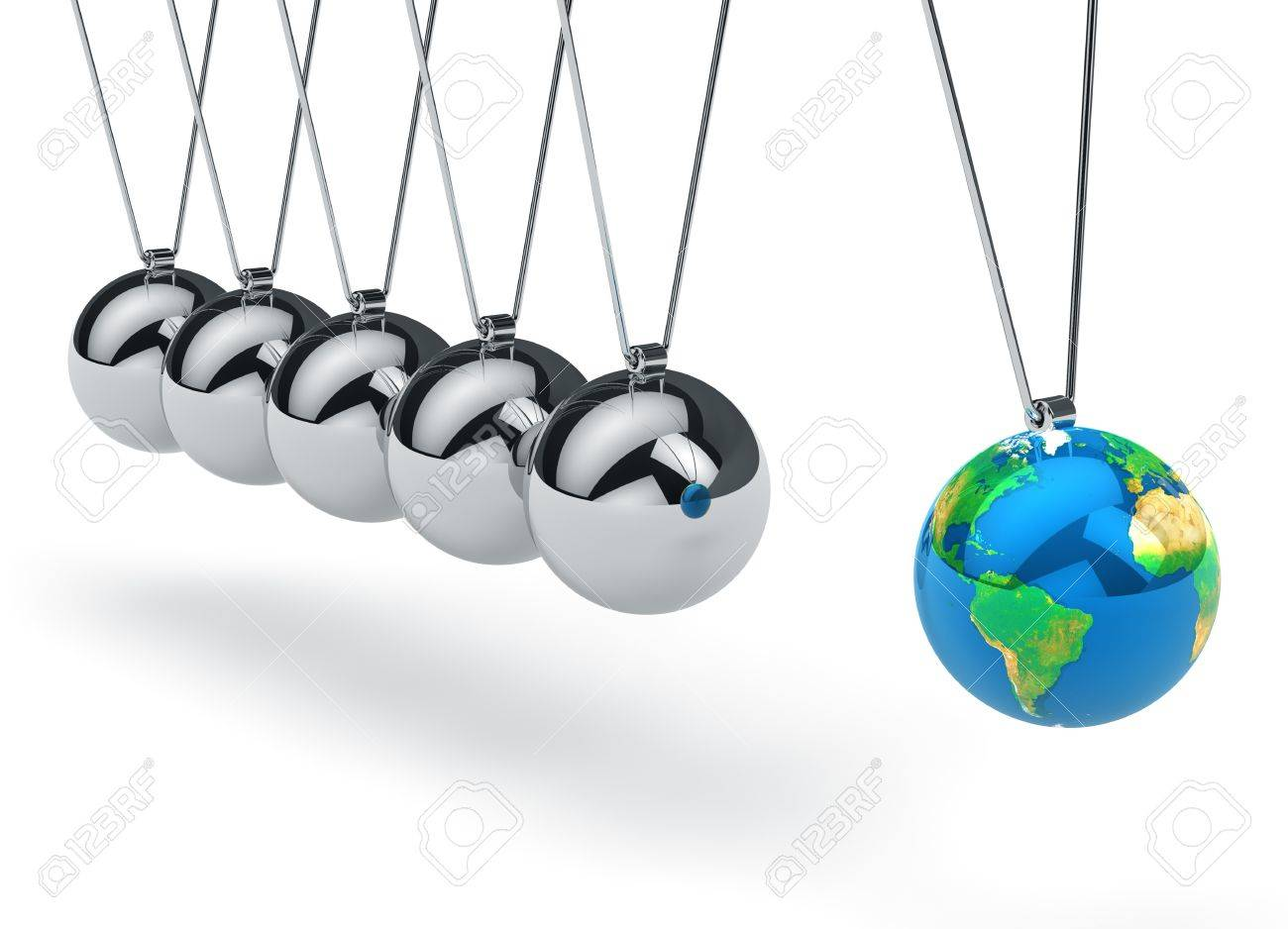 Ecology, global communication and business strategy concept  Newton Stock Photo - 14765891