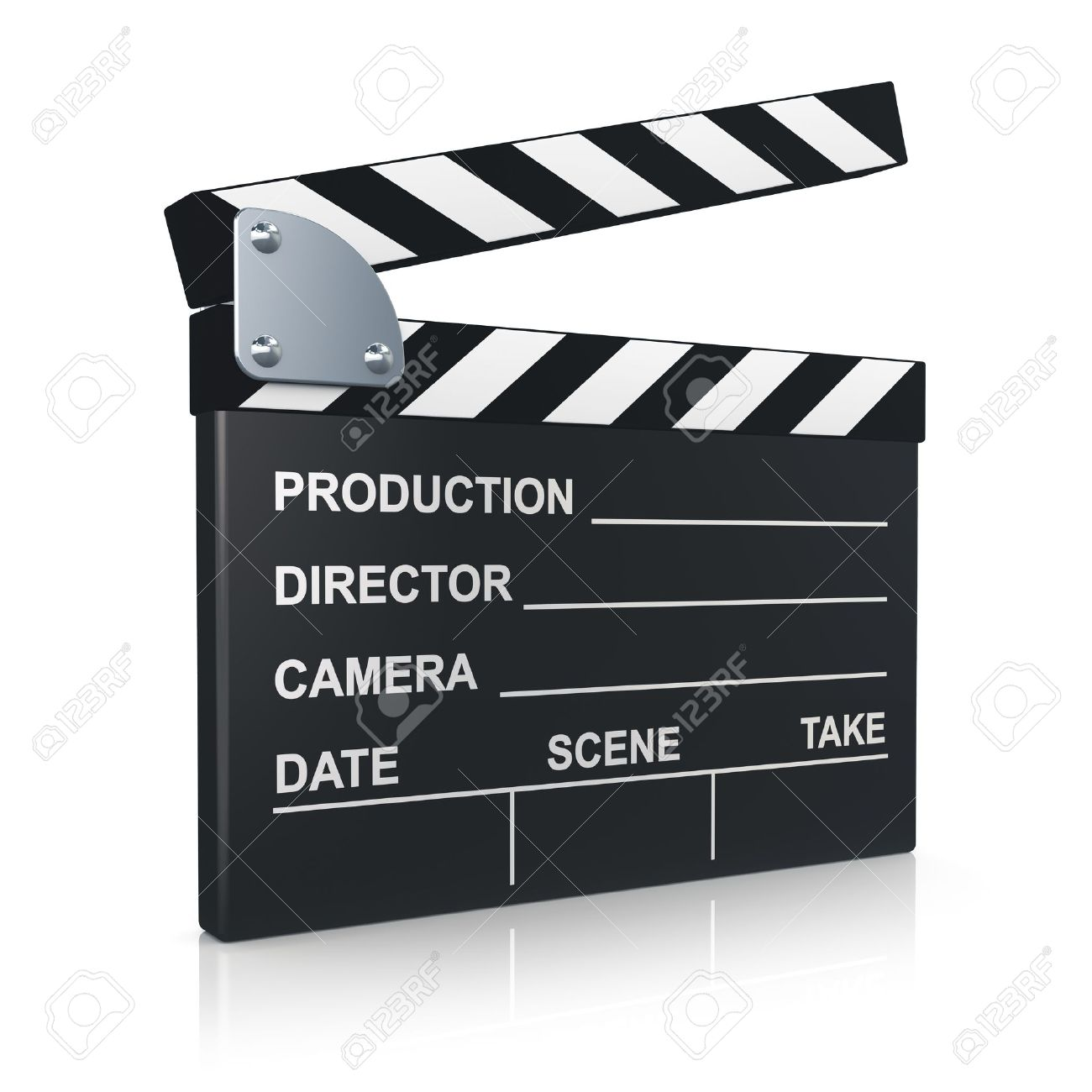 newest 1ea4f 267f3 Black clapper board for film, movie and cinema production isolated on white  background with reflection