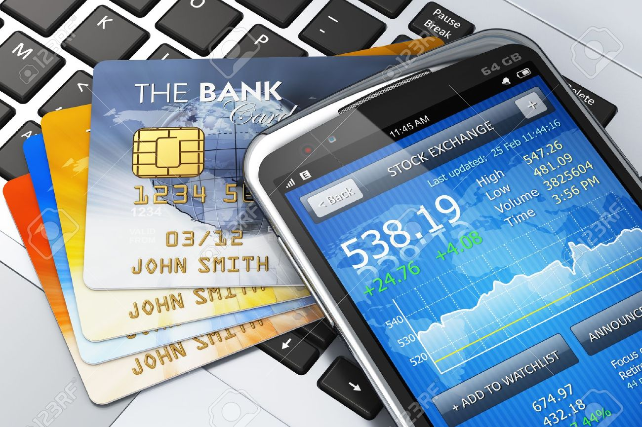 Mobile banking, finance and making money concept Stock Photo - 17660271