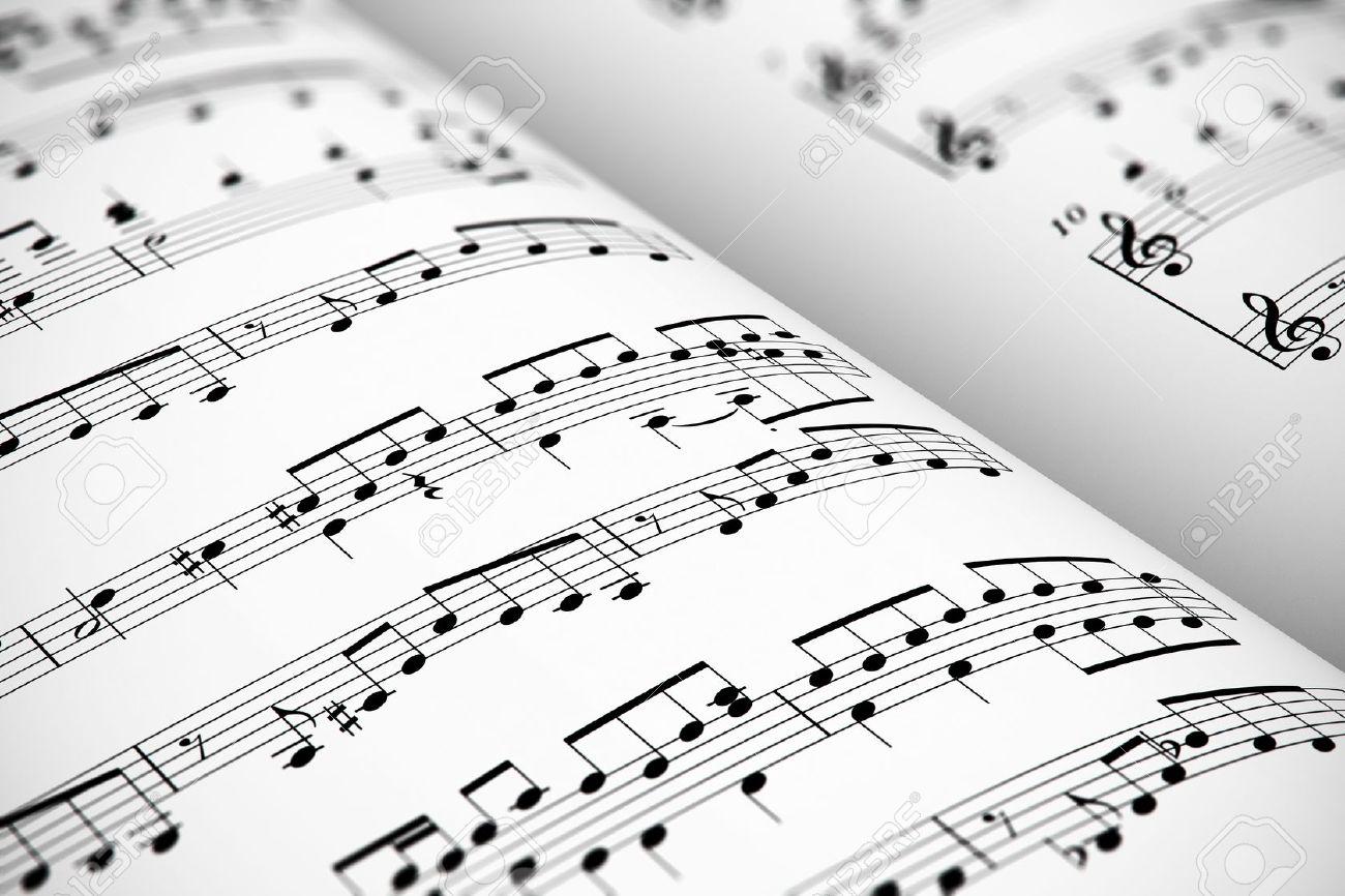 Fondo Concepto Musical: Visión Macro De La Música Blanca Hoja De ...