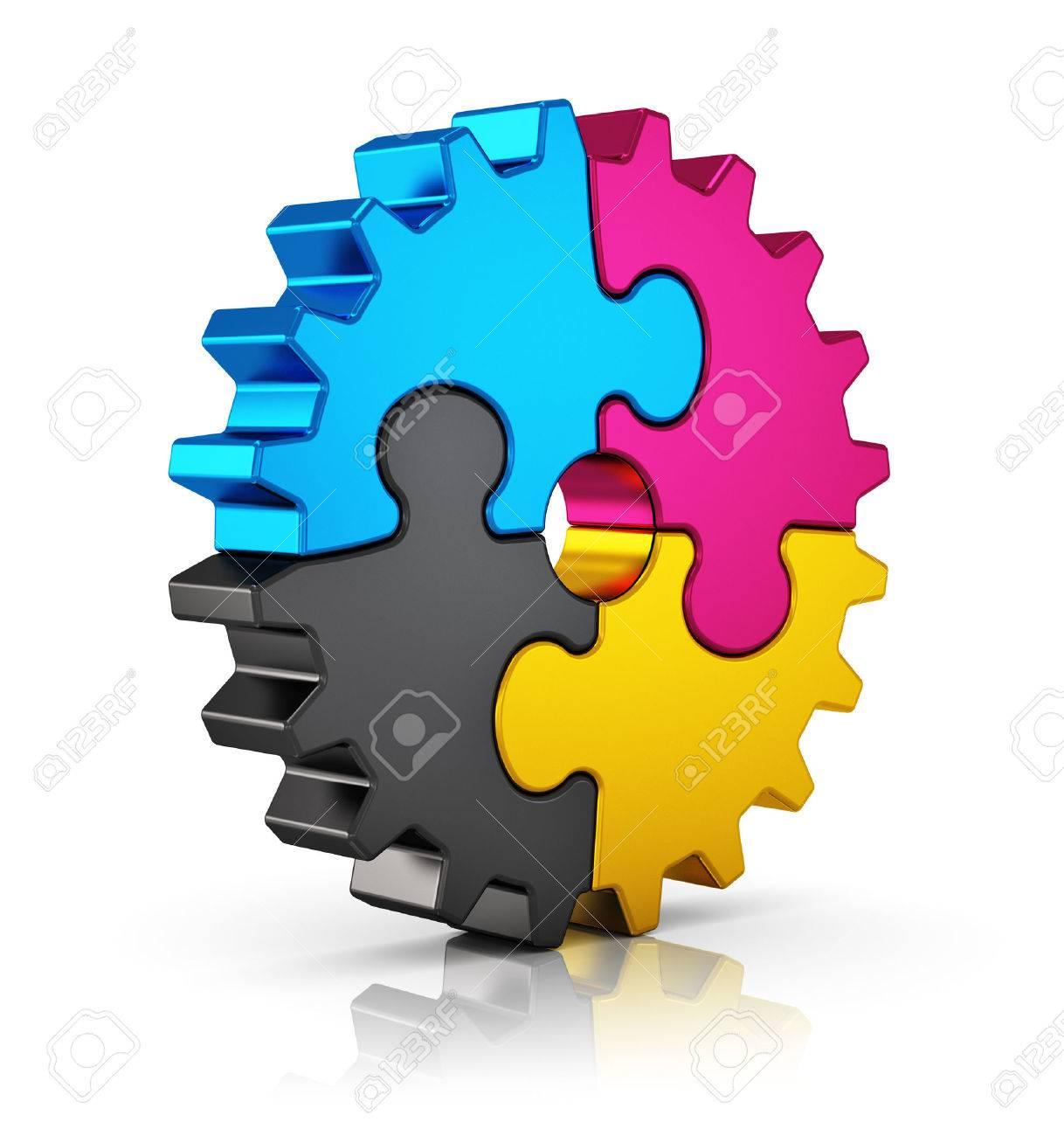 Color art tipografia - Foto De Archivo La Tecnolog A Inform Tica La Impresi N En Color Creativo Tipograf A Prensa Y Ediciones Concepto Abstracto Cmyk Colorido Rompecabezas