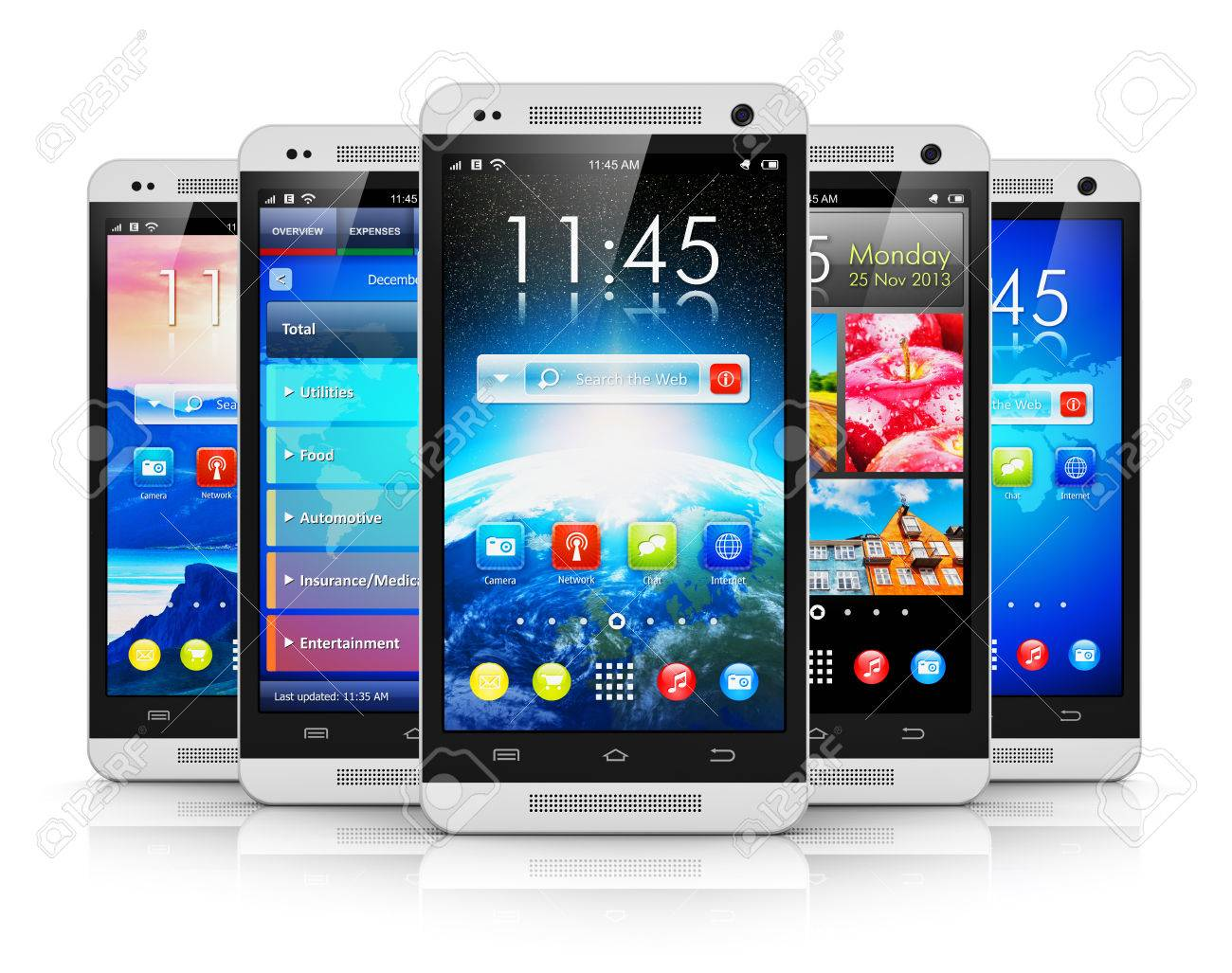 Creative Abstract Mobile Phone Wireless Communication Technology ...