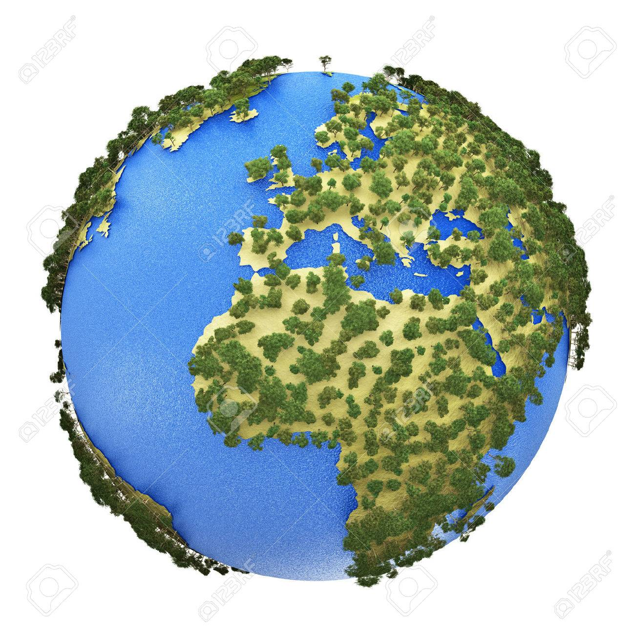 Creative abstract global ecology and environment protection business creative abstract global ecology and environment protection business concept mini green earth planet globe with world gumiabroncs Images