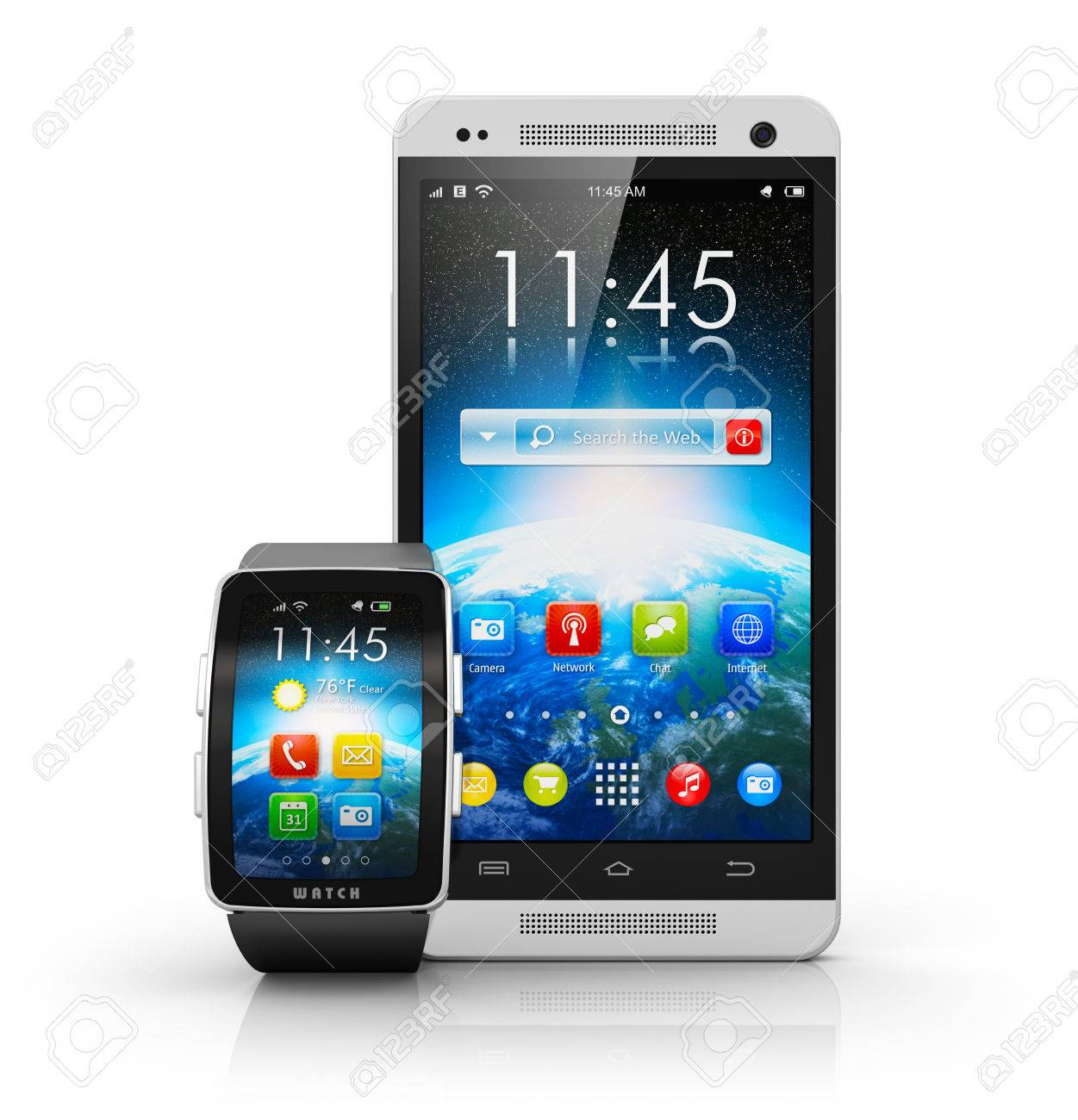 Uhr als hintergrund smartphone