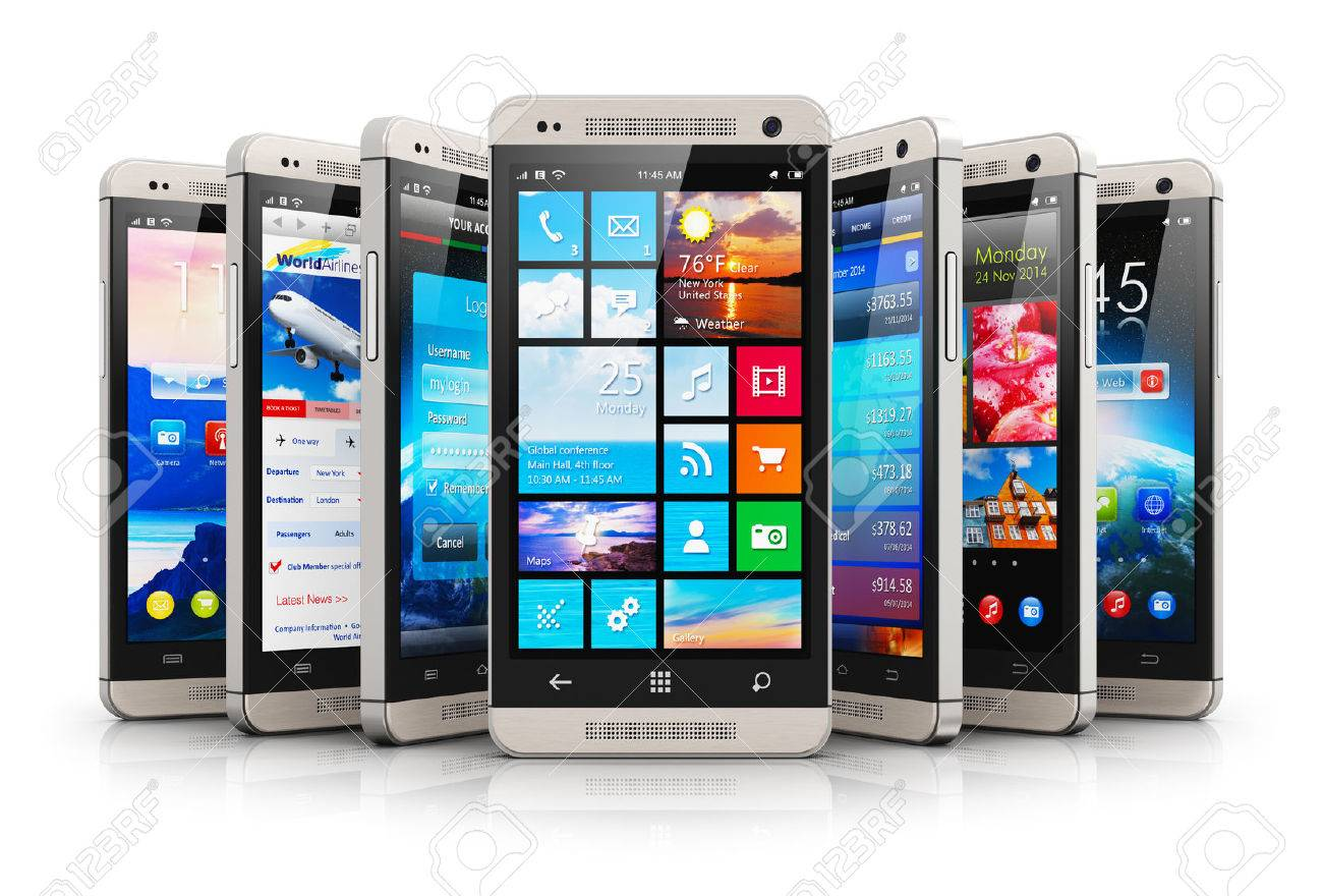 Ufficio In Mobilità : Creativo cellulare astratto tecnologia di comunicazione wireless e