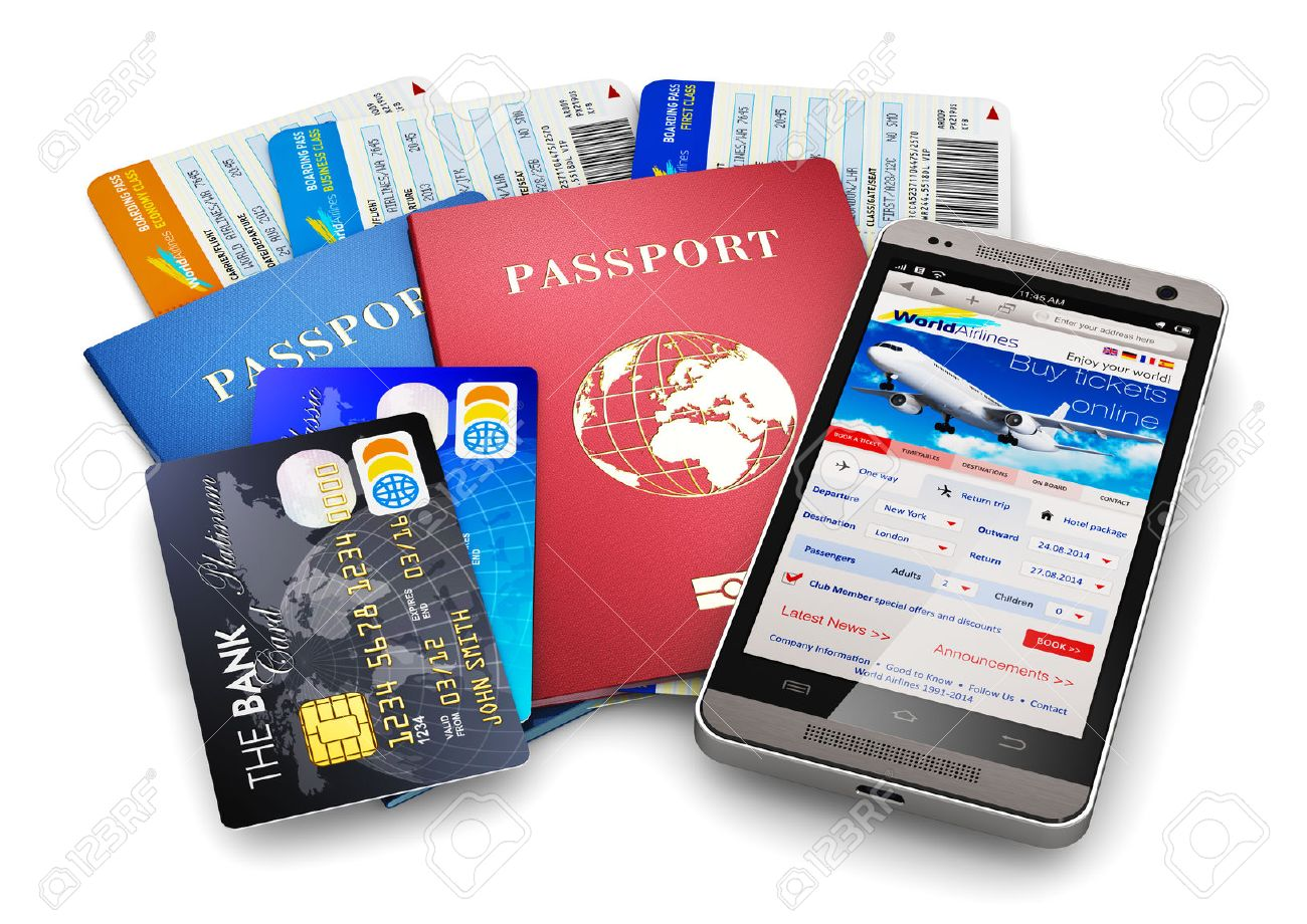 Creative Abstract Business Travel And Tourism Concept: Air Tickets ...