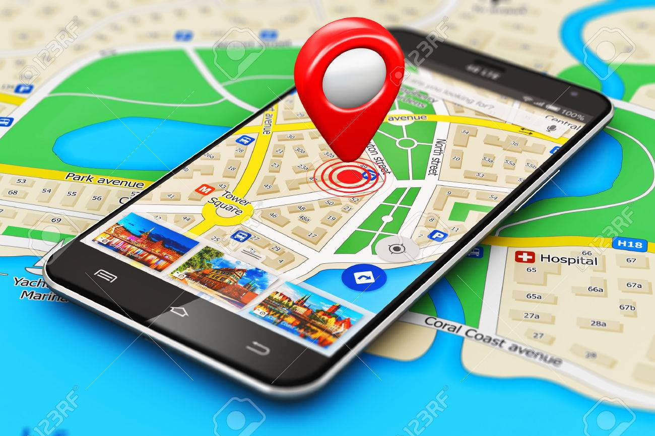 Phone with maps