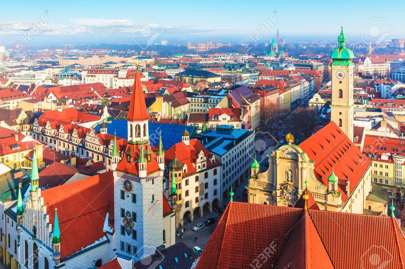 Aerial View Of Munich. Munich, Bavaria, Germany Royalty Free Stock ...