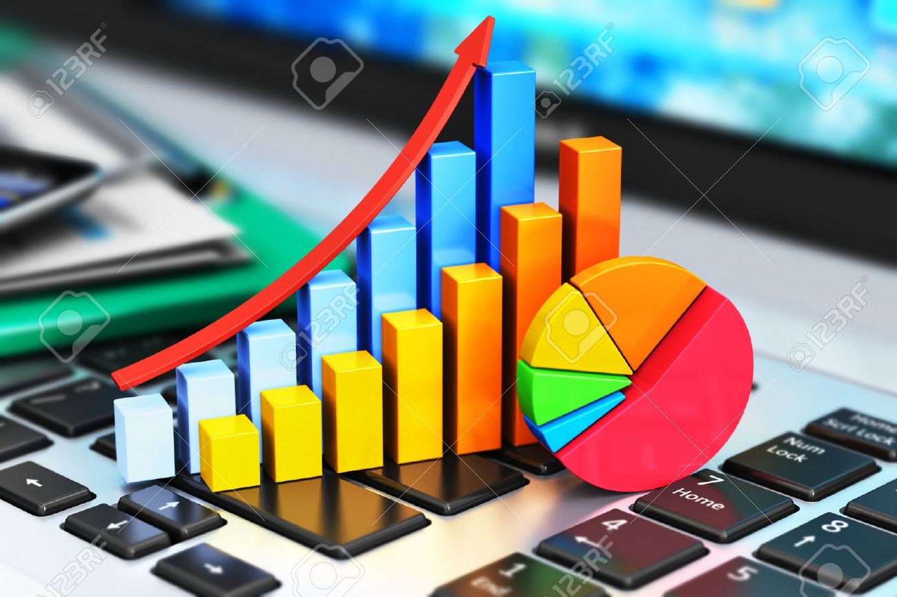 Creative Abstract Mobile Office, Stock Exchange Market Trading ...