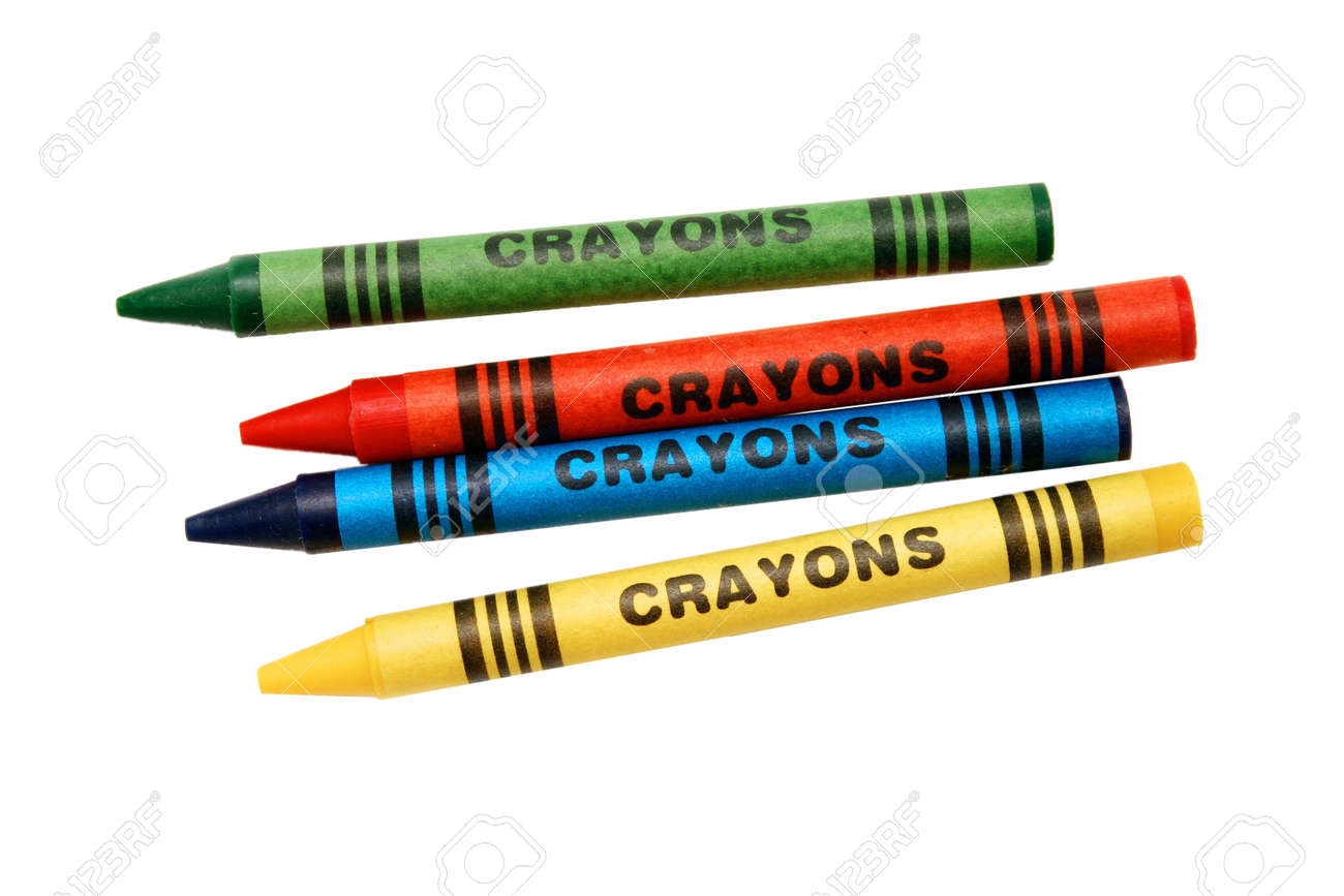 Generic Coloring Crayons Stock Photo, Picture And Royalty Free ...