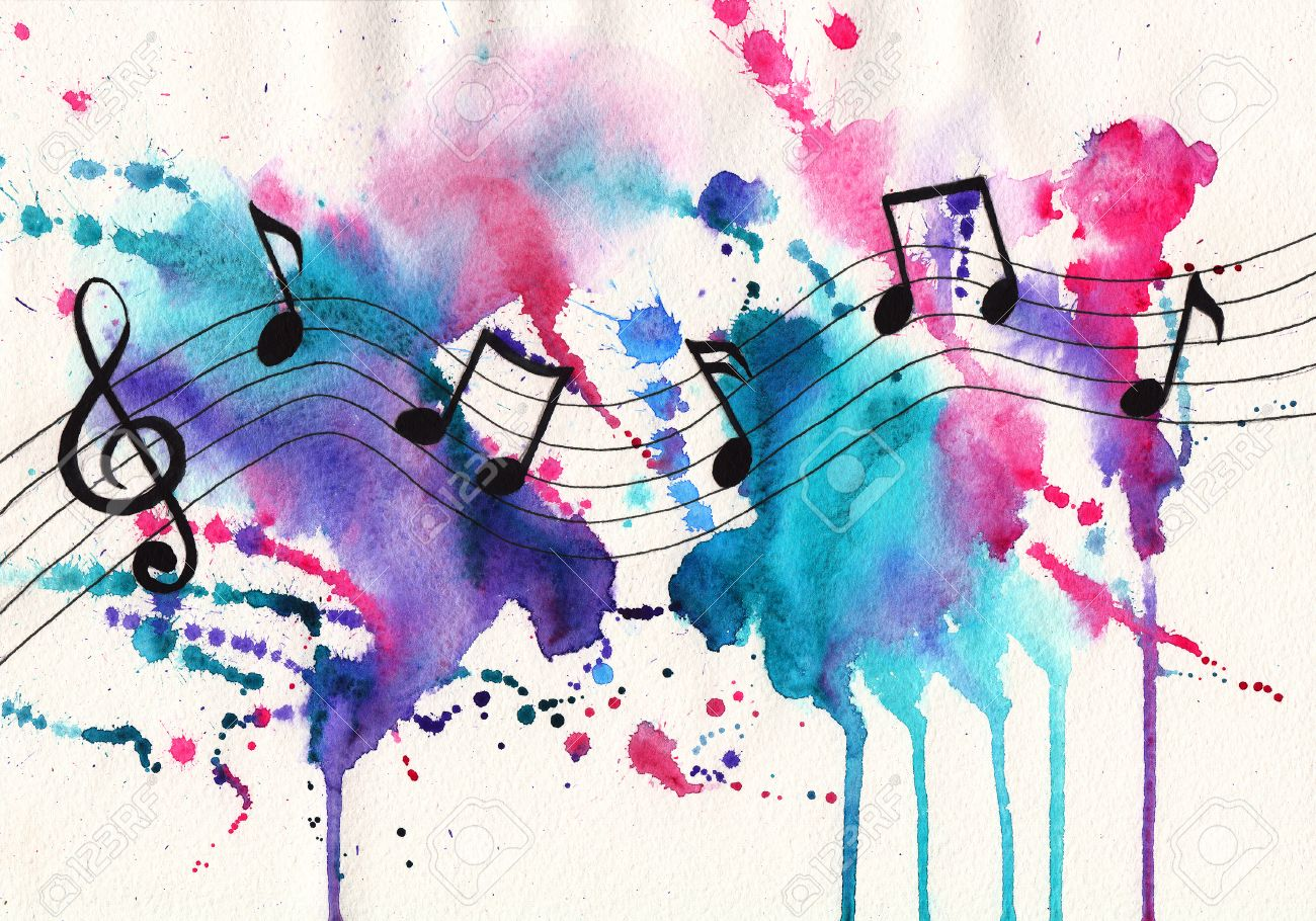 Watercolor notes music symbols on abstract watercolor textured stock photo watercolor notes music symbols on abstract watercolor textured background biocorpaavc Image collections