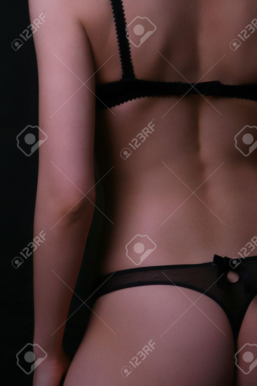 talla 40 descuento más bajo colores y llamativos Mujer de espalda y las nalgas en ropa interior