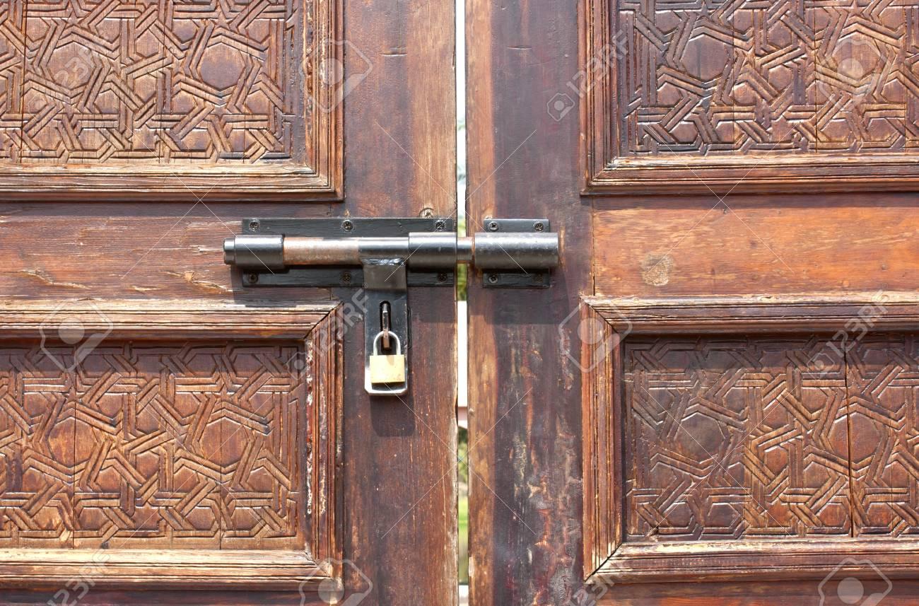 Old door lock door locks doors Teak