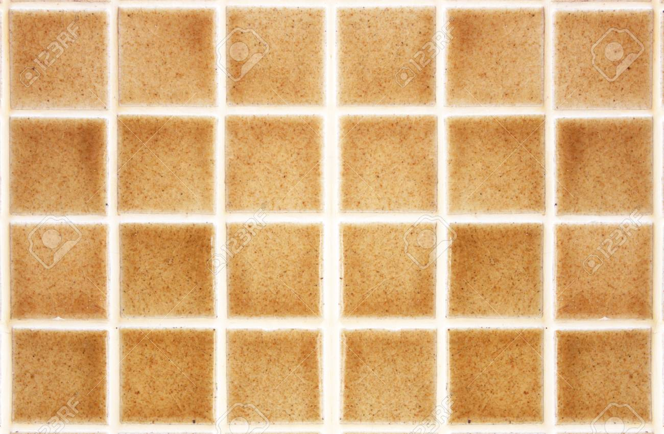 Mosaic bathroom as a background, brown and yellow. Stock Photo - 24414341