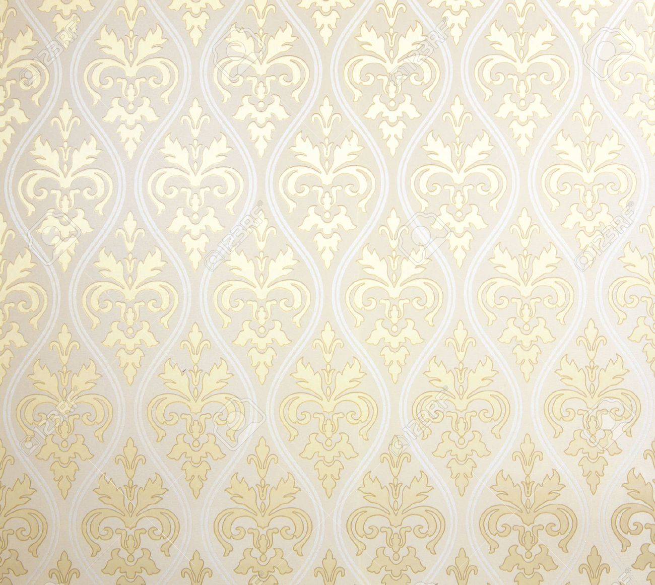Floral Wallpaper Pattern Light Yellow Abstract Background Texture