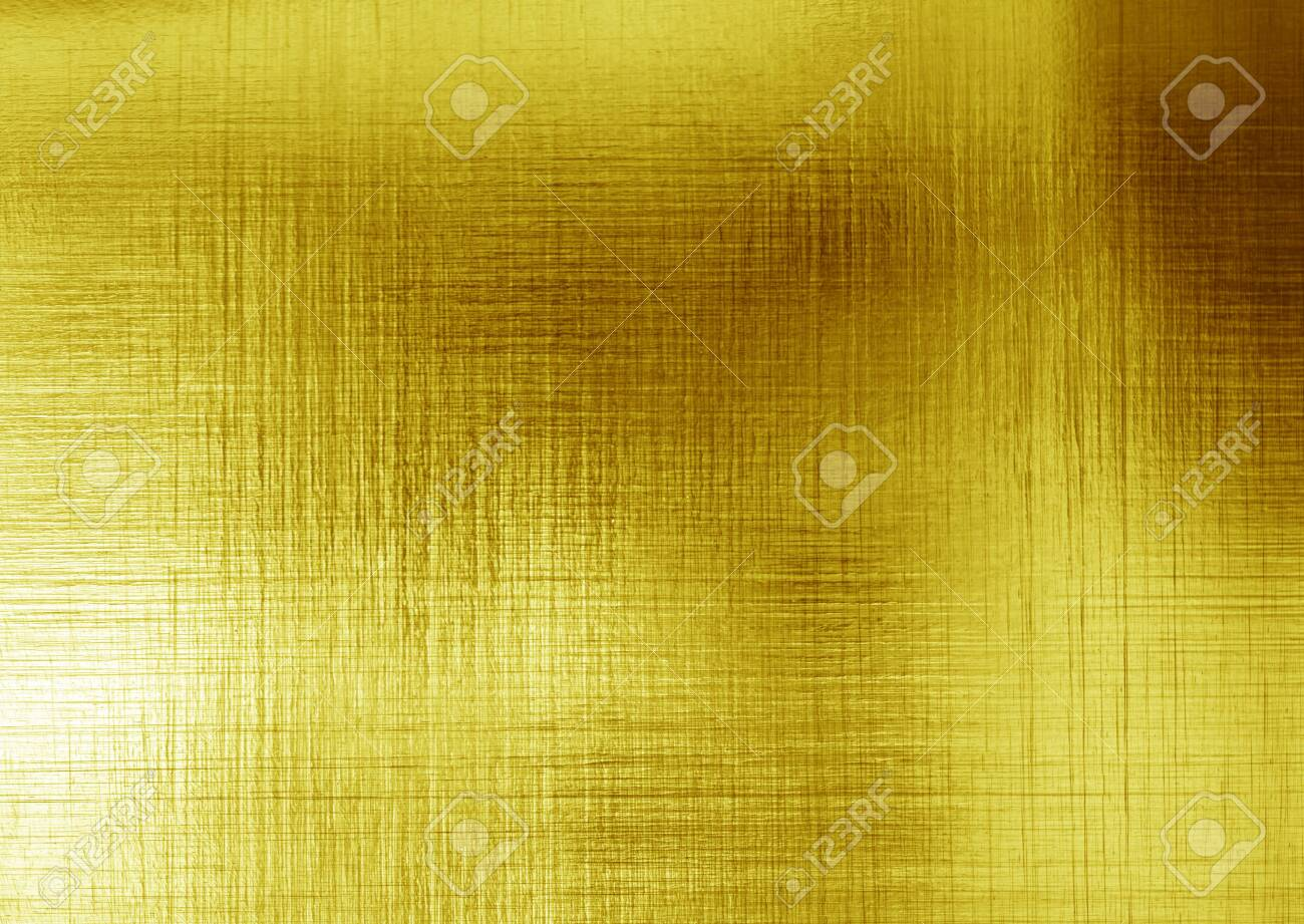 gold polished metal steel texture abstract background - 129285284