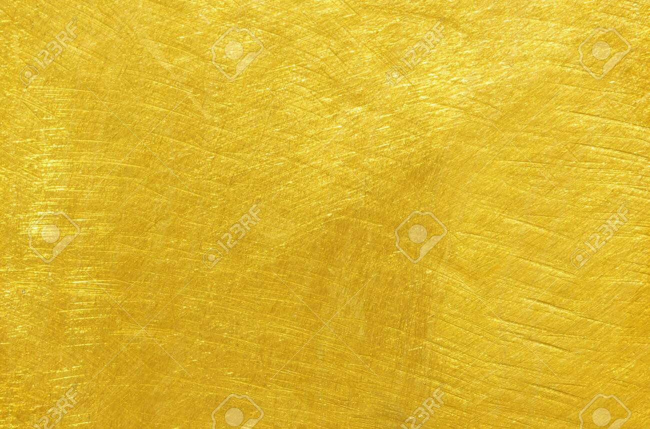 Brass plate with scratched surface background - 146094749