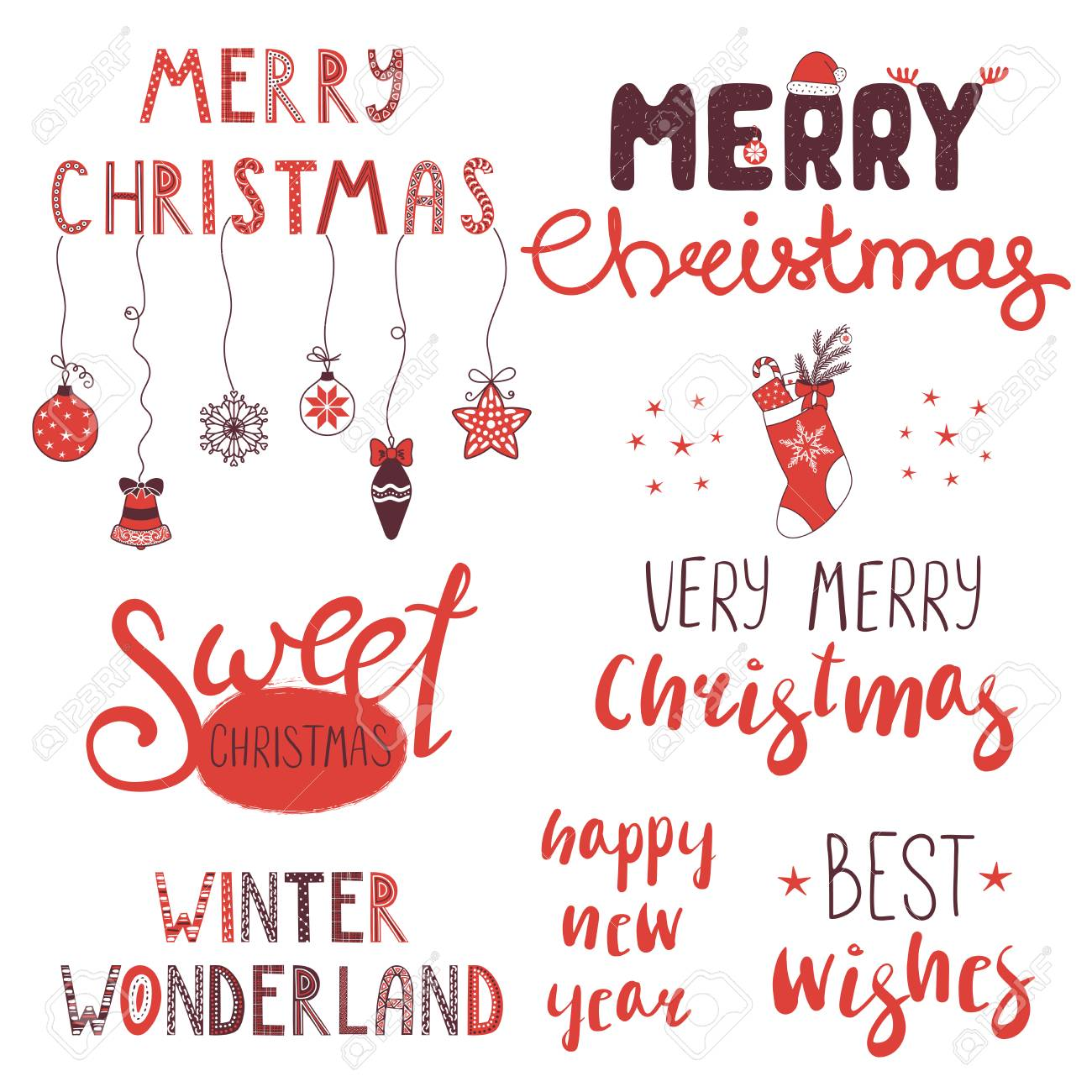 Collection Of Different Winter, Christmas, New Year Quotes ...