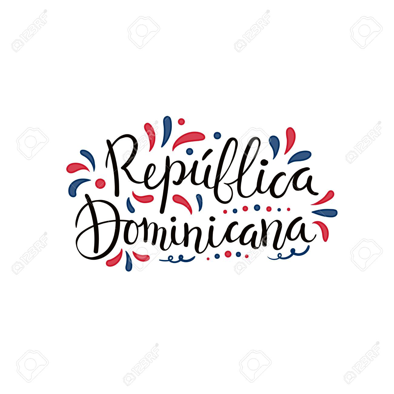 Hand Written Calligraphic Lettering Quote Dominican Republic.. Royalty Free  Cliparts, Vectors, And Stock Illustration. Image 101767192.