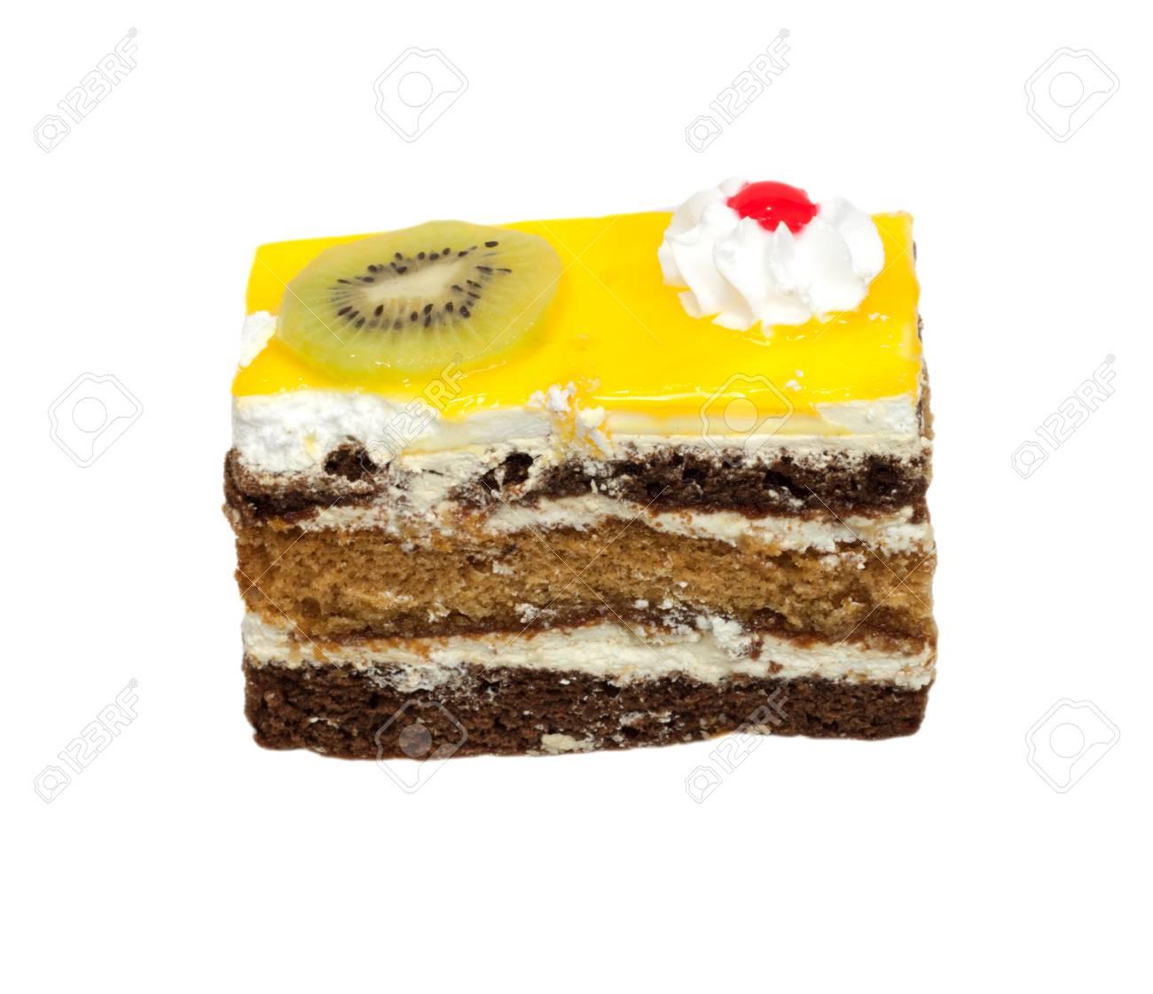 orange cake with kiwi Stock Photo - 10547435