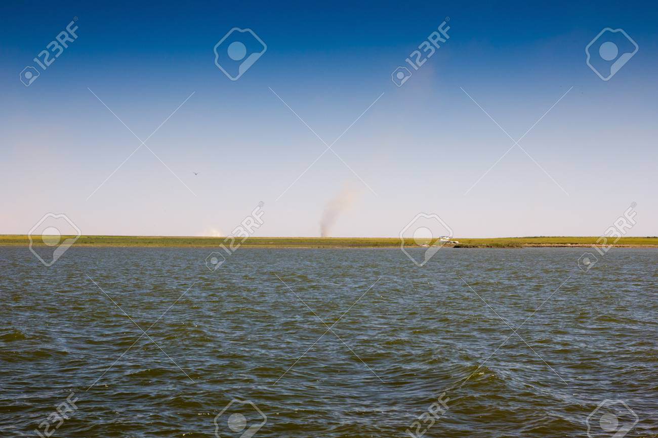 Lake in the steppes of Kazakhstan Stock Photo - 15722290