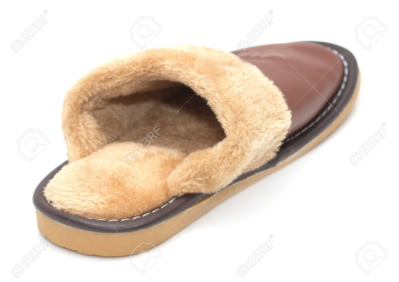 house slippers on a white background Stock Photo - 17365466