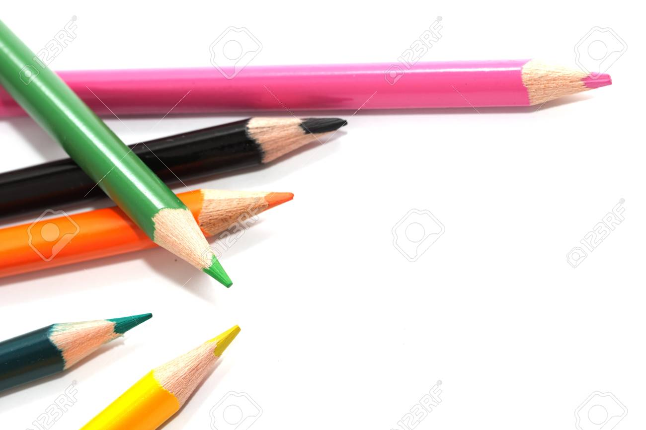 colored pencils. macro Stock Photo - 17365468