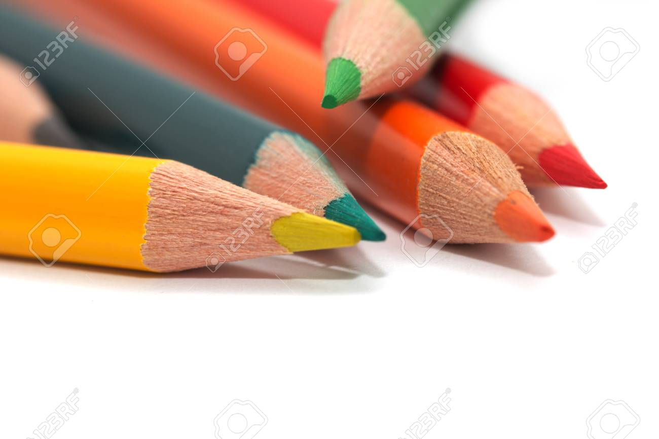 colored pencils. macro Stock Photo - 17365544