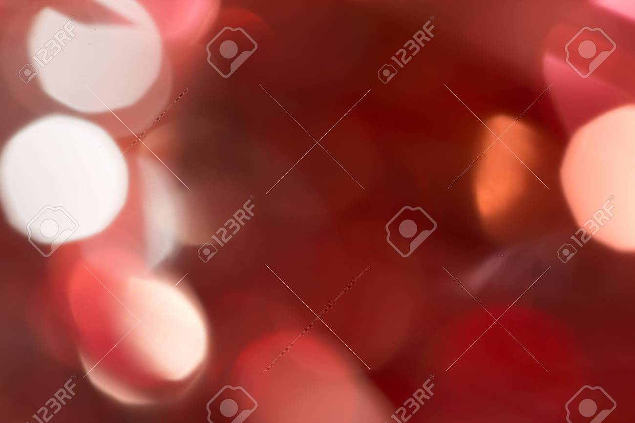 Red and orange holiday bokeh. Abstract Christmas background Stock Photo - 17365841
