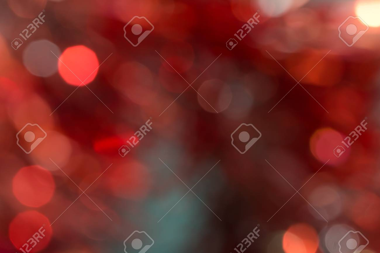 Red and orange holiday bokeh. Abstract Christmas background Stock Photo - 17365479