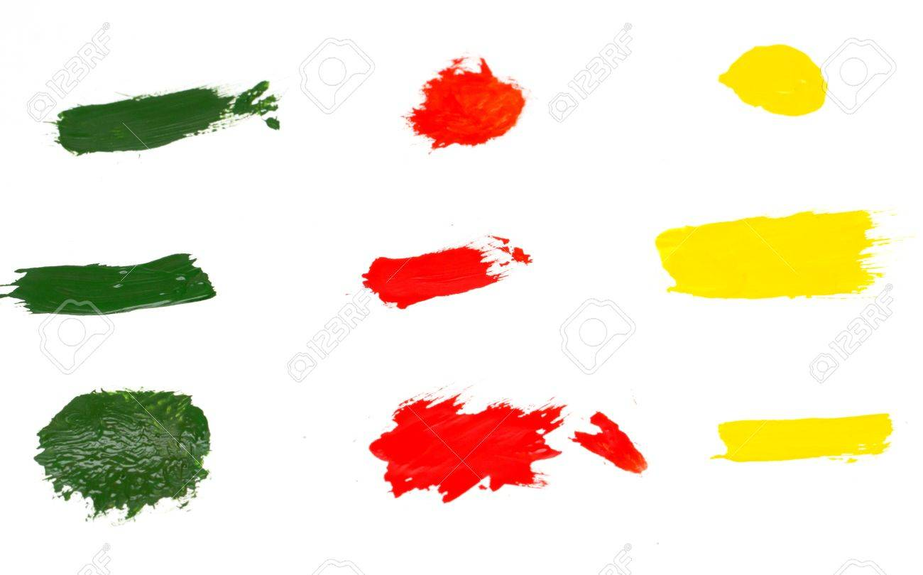 Paint dabs. Stock Photo - 17637348