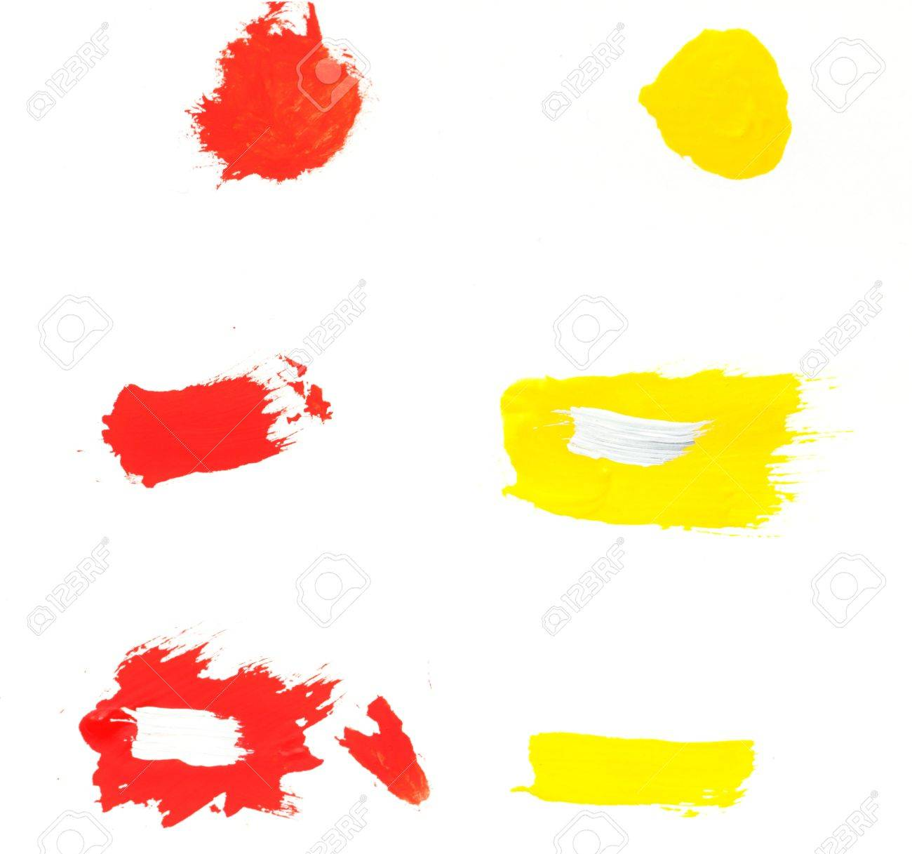 Paint dabs. Stock Photo - 17872960
