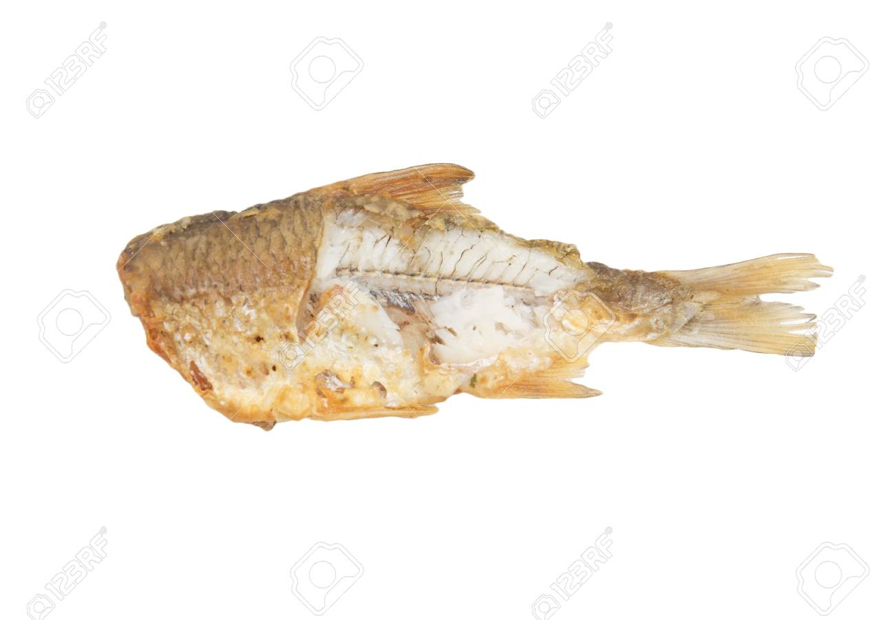 fried fish on a white background Stock Photo - 18892477