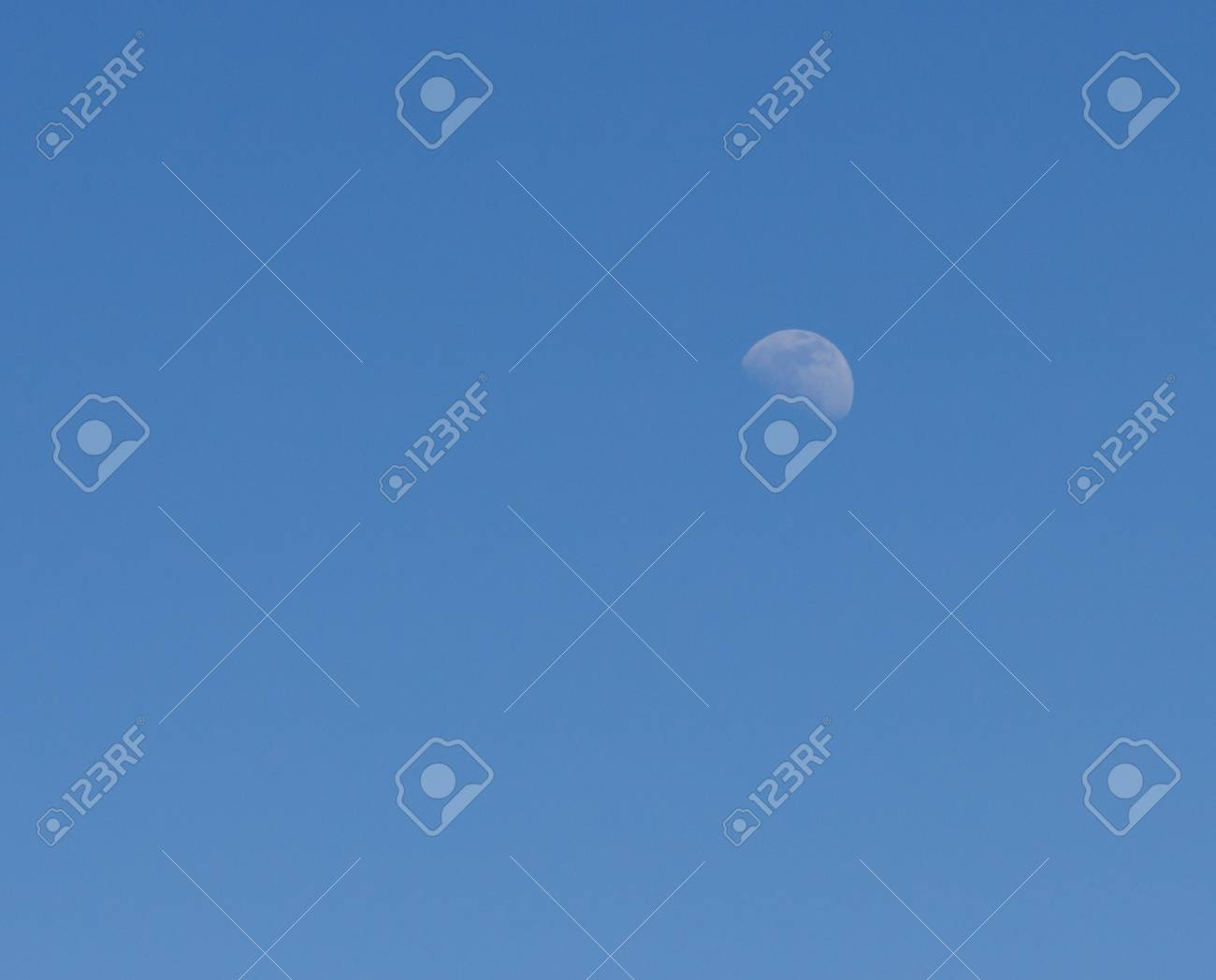 moon on a background of blue sky Stock Photo - 20532078