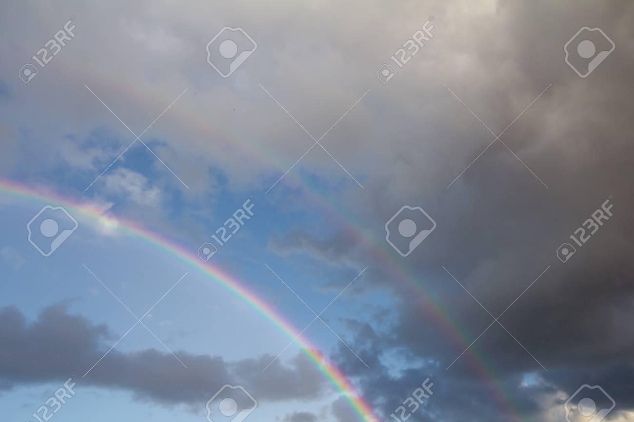 rainbow in the sky on the nature Stock Photo - 21334439