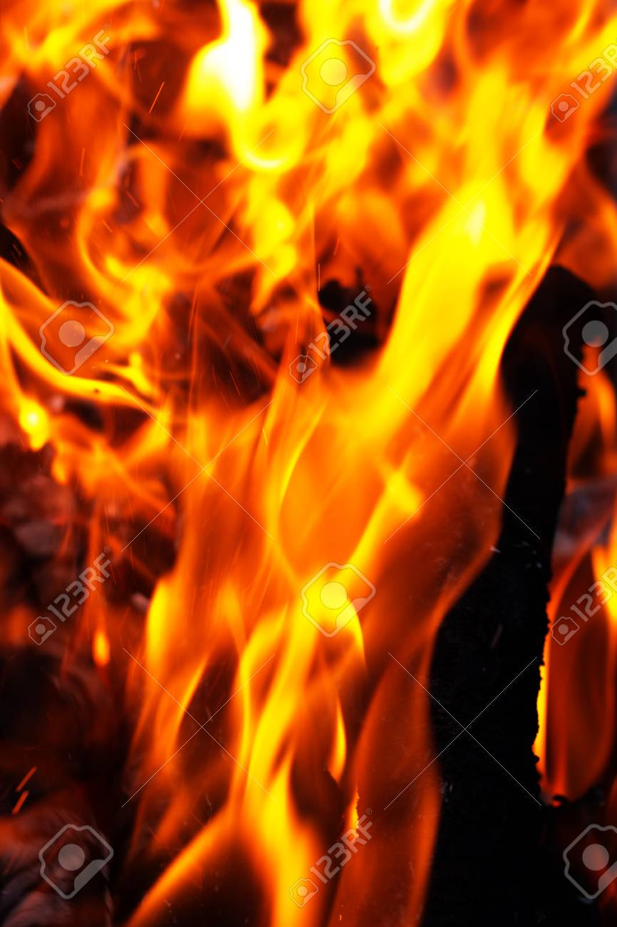 flame of fire as the background Stock Photo - 22378720