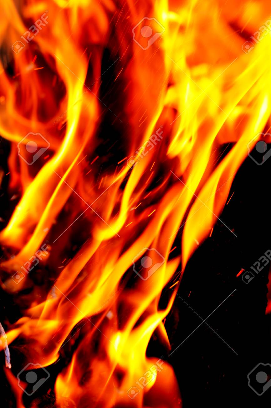 flame of fire as the background Stock Photo - 22378721