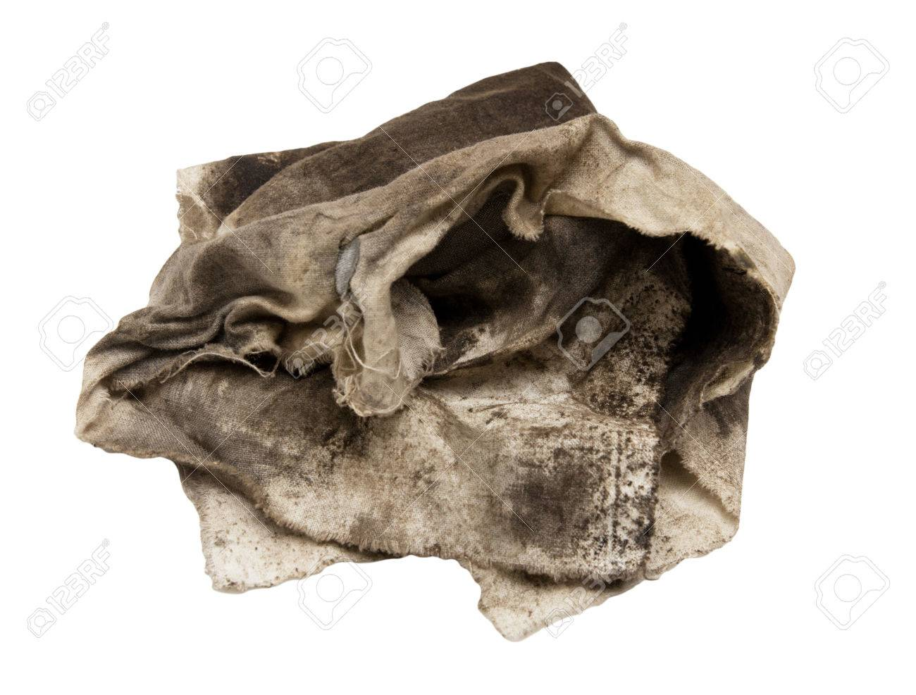 99718d21ca20a Dirty Rag On A White Background Stock Photo, Picture And Royalty ...