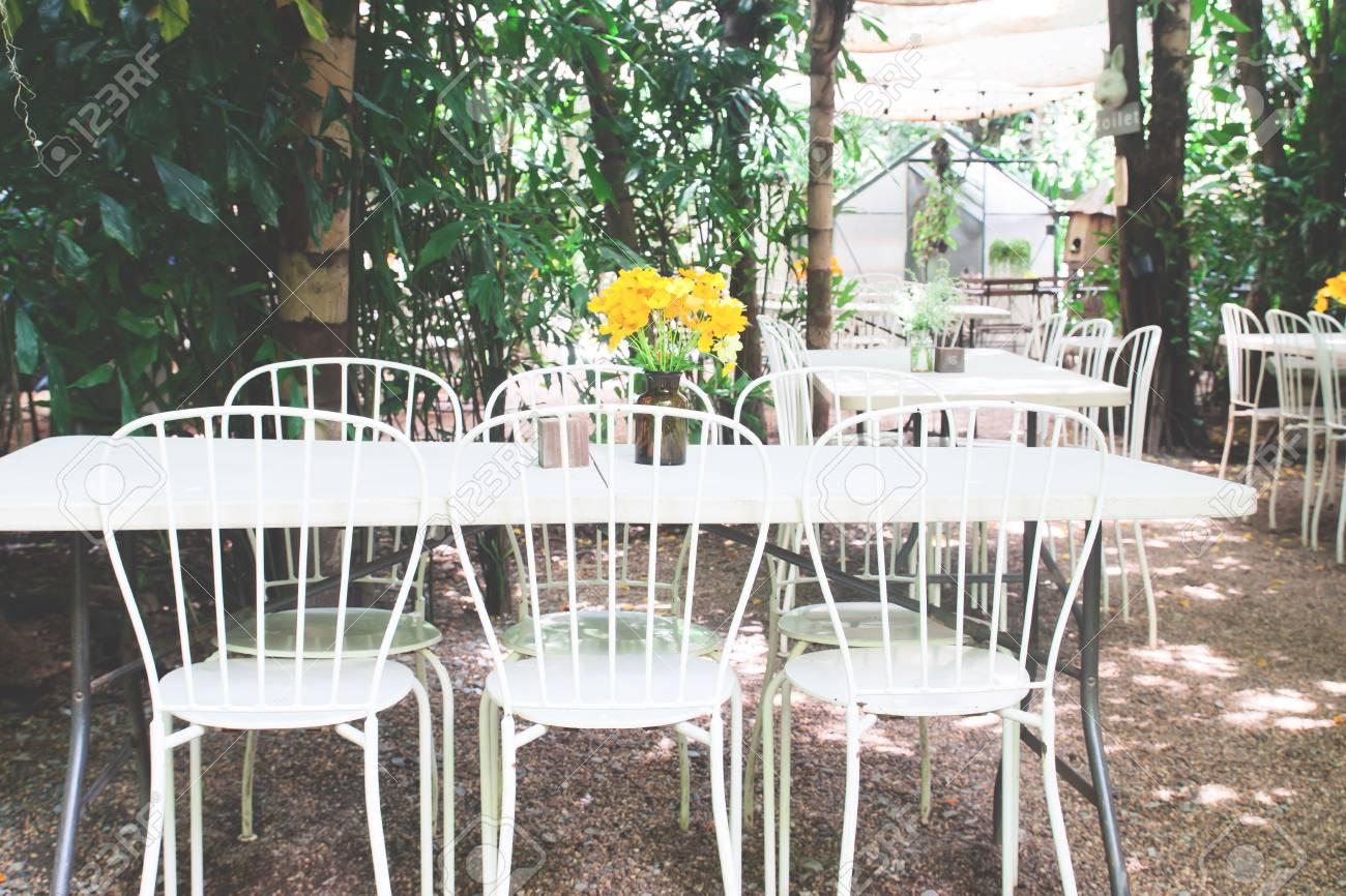 Vintage Style Cafe Or Restaurant Exterior Design Concept Stock