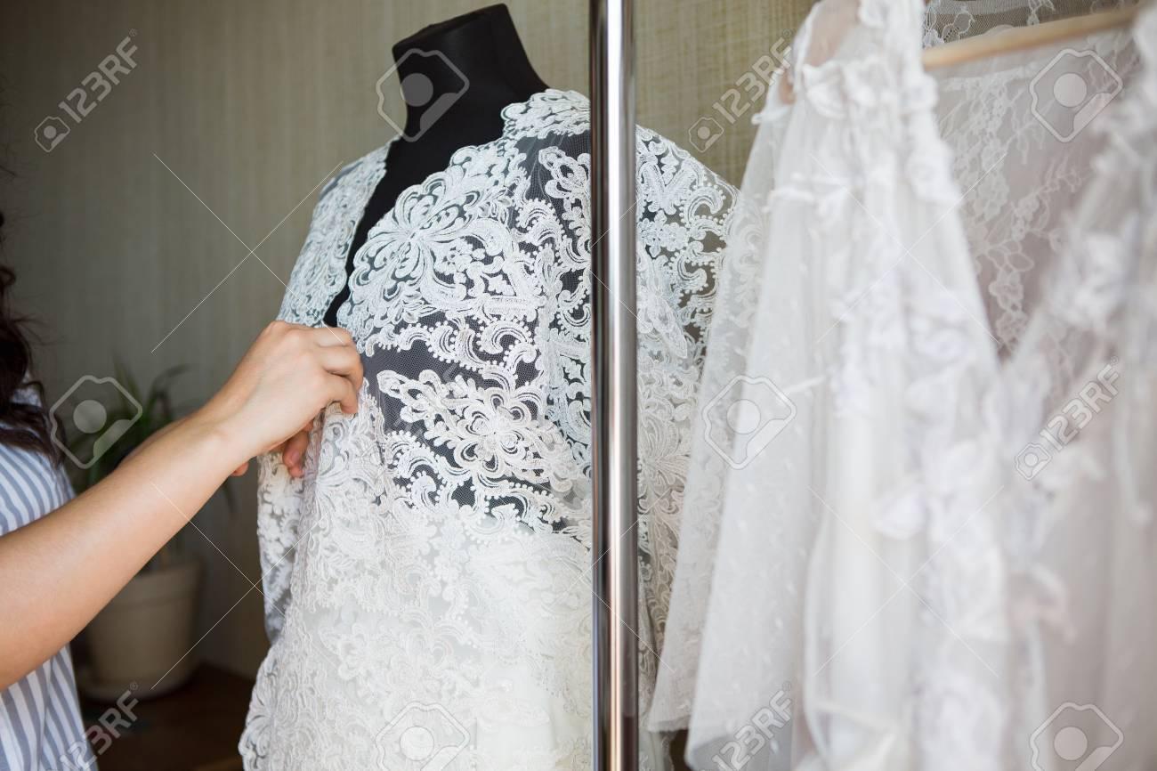 Dress Designer Making Lace Wedding Dresses Handmade Stock Photo Picture And Royalty Free Image Image 92150346,Wedding Dress Makers Sydney