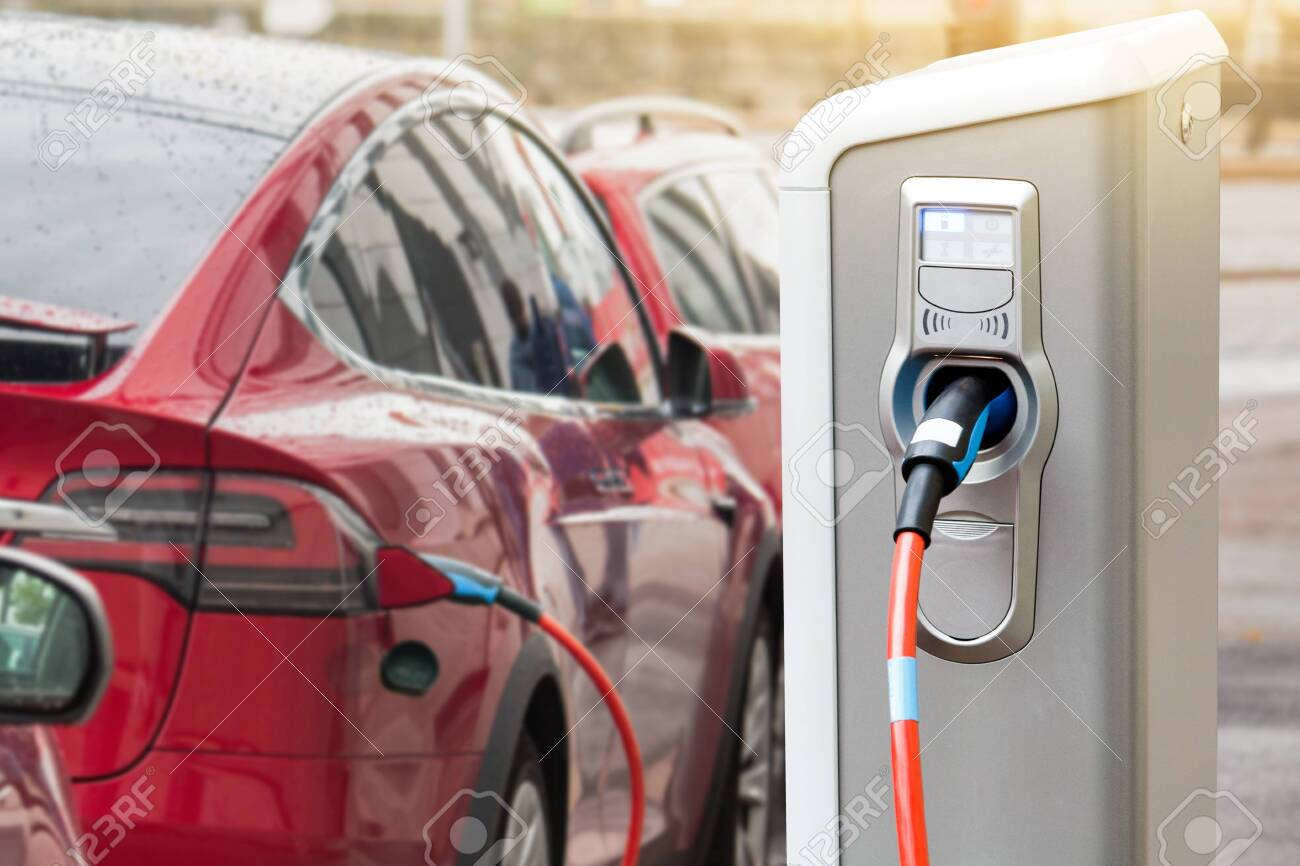 Charging station for electric car. - 148576818
