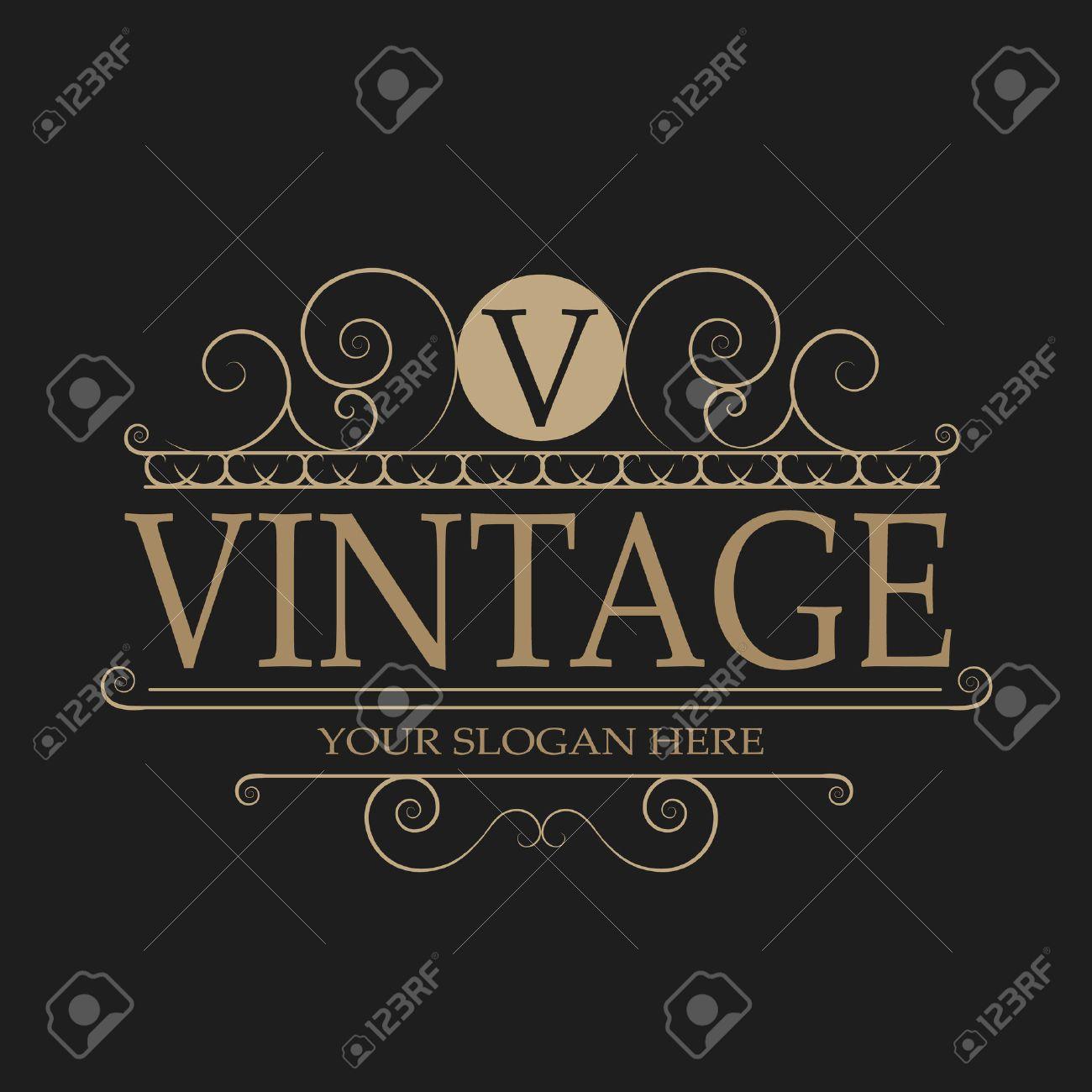 Vintage logo - 45709617