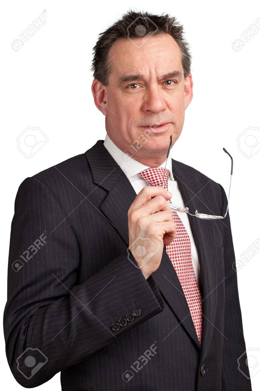 Smiling Middle Age Businessman in Suit Stock Photo - 9379279