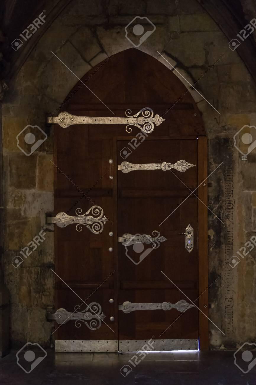 Antique castle door - 89460423